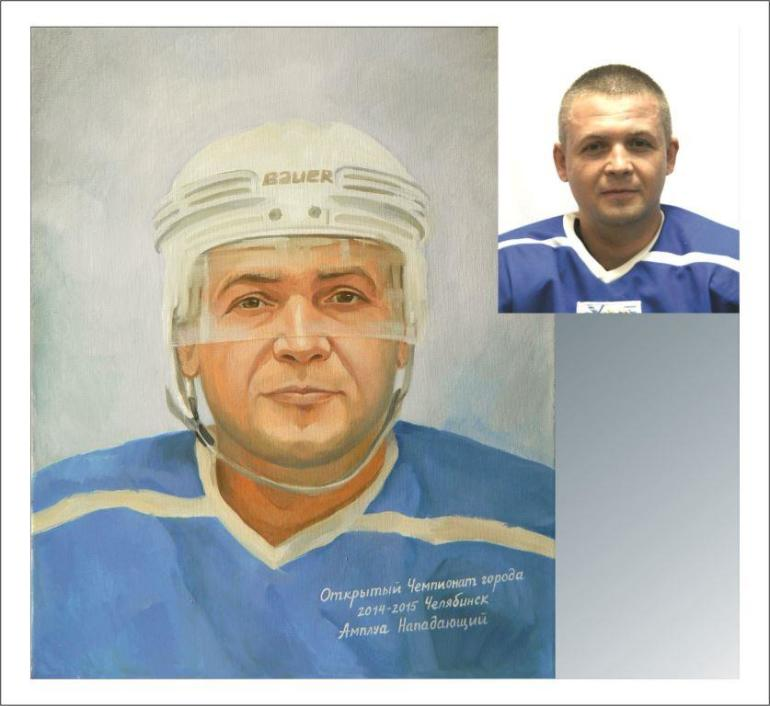 Портрет маслом с фотографии на заказ в Челябинске