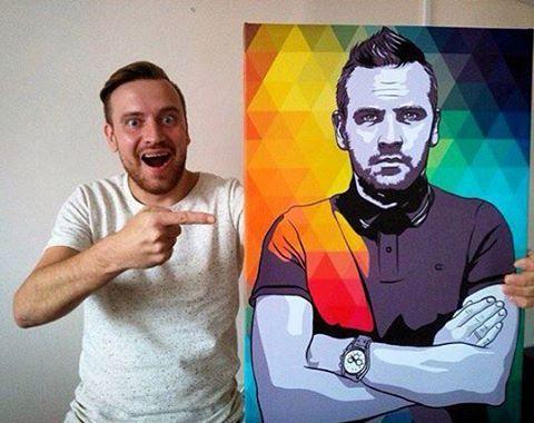 поп арт портрет на заказ для мужа в челябинске