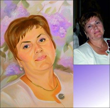 Мама была в восторге от портрета, подаренного сыном!