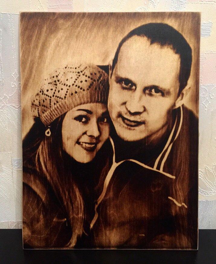 выжигание портретов по дереву на заказ в Челябинске