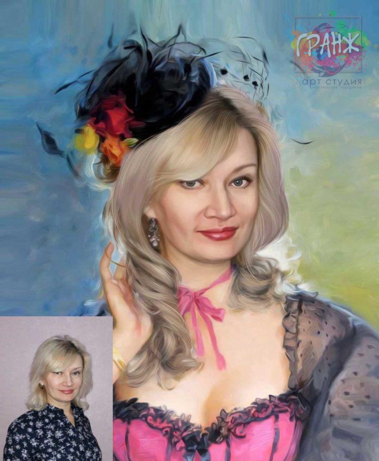 Заказать арт портрет по фото на холсте в Челябинске