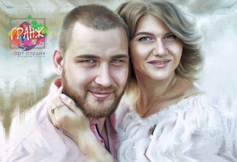 Где заказать портрет по фотографии на холсте в Челябинске?