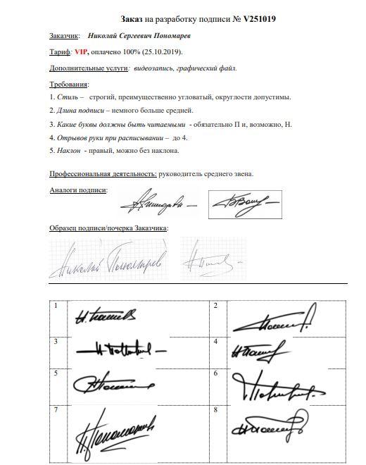 Разработка личной подписи онлайн Челябинск