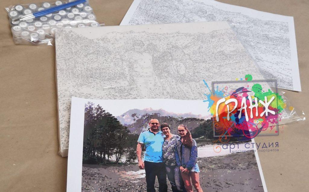 картин по номерам на холсте по фото в Челябинске