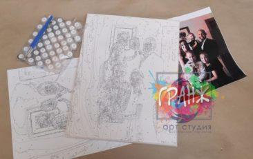 Картина по номерам по фото, портреты на холсте и дереве в Челябинске